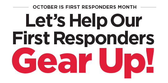 October is First Responders Month